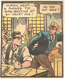 Clark Kent gets a tip