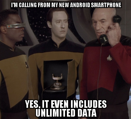 Picards Andoid smartphone