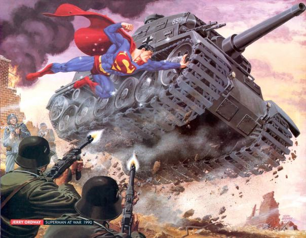 Superman in WWII, by Jerry Ordway, 1990
