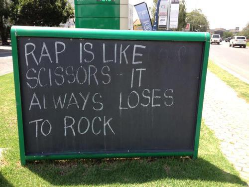 Rap has beats, but rock beats rap