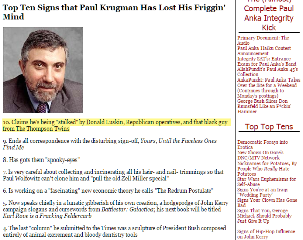 Krugman vs Thompson Twins